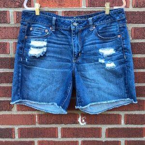 American Eagle Distressed Boyfriend Shorts
